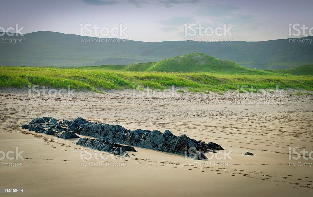 Beach by Barents sea stock photo