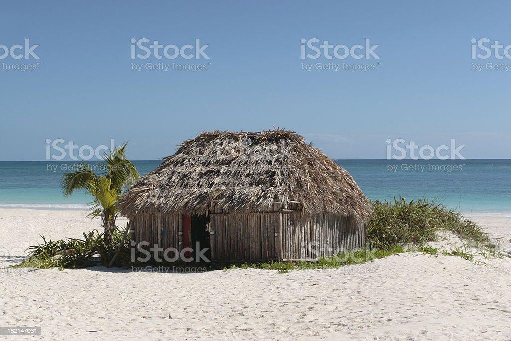 Beach Cabana royalty-free stock photo