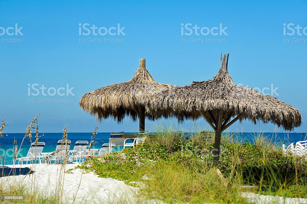 Beach Cabana stock photo