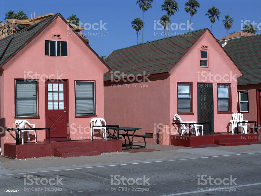 Beach Cabanas stock photo