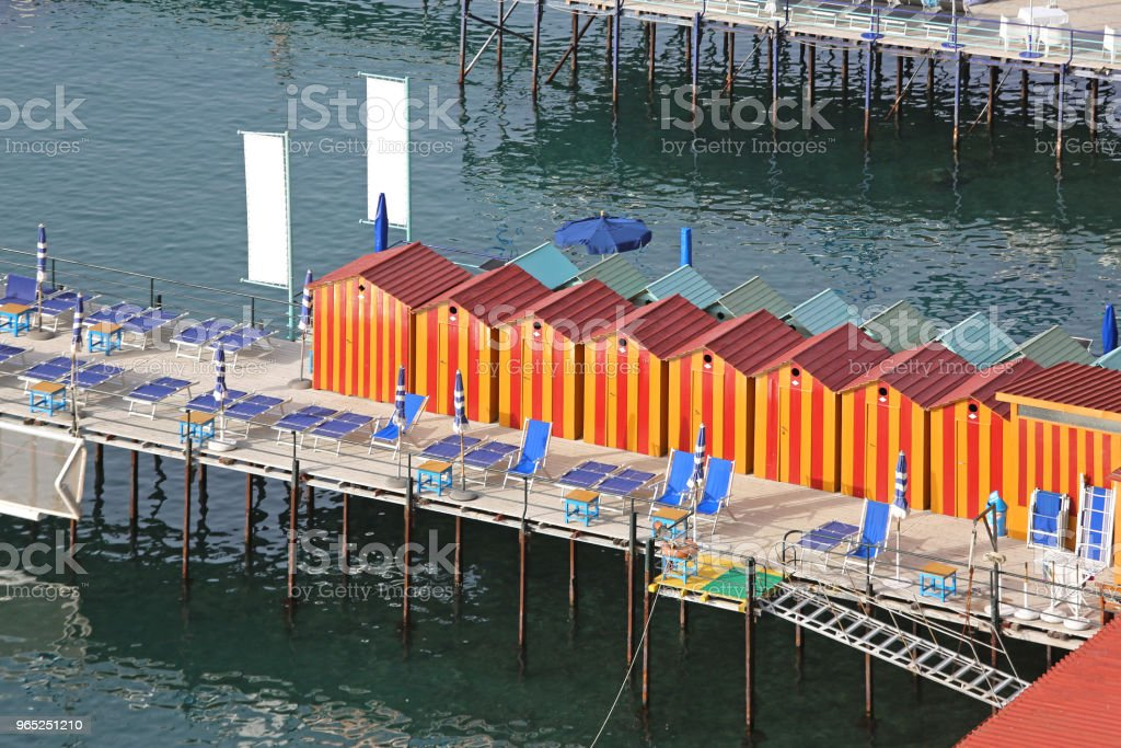 Beach Cabins royalty-free stock photo