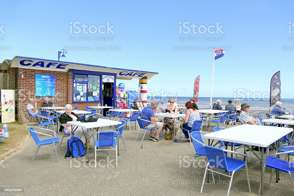 Beach cafe. stock photo
