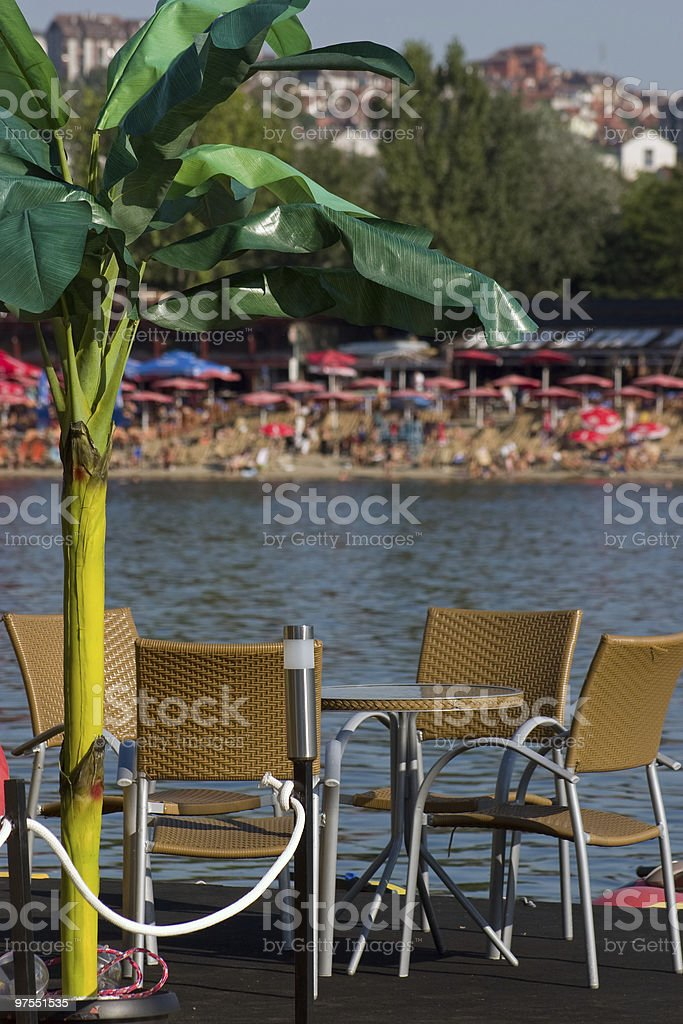 Beach Café photo libre de droits