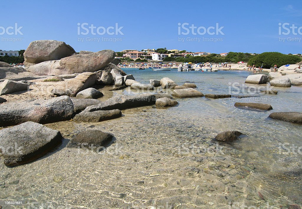Beach - Capo Testa, Sardinia Italy royalty-free stock photo