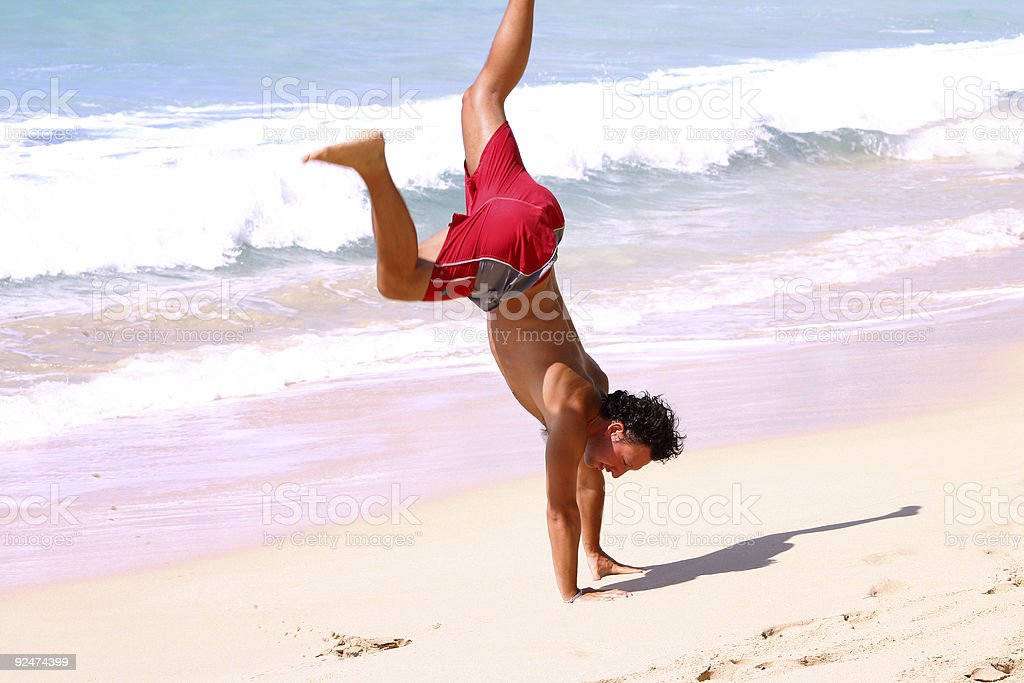 Beach Cartwheel royalty-free stock photo