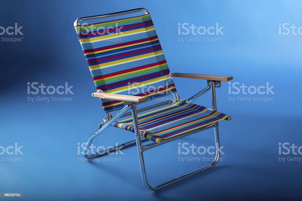 Beach chair in blue II royalty-free stock photo