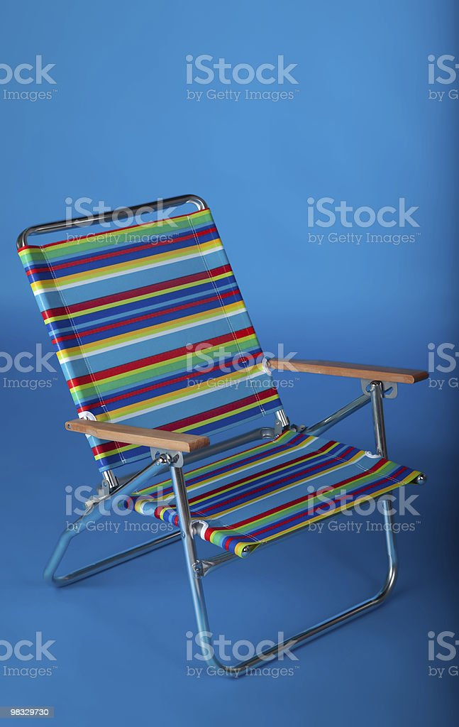 Beach chair in blue royalty-free stock photo