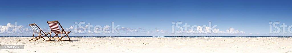 Beach Chair Panorama royalty-free stock photo