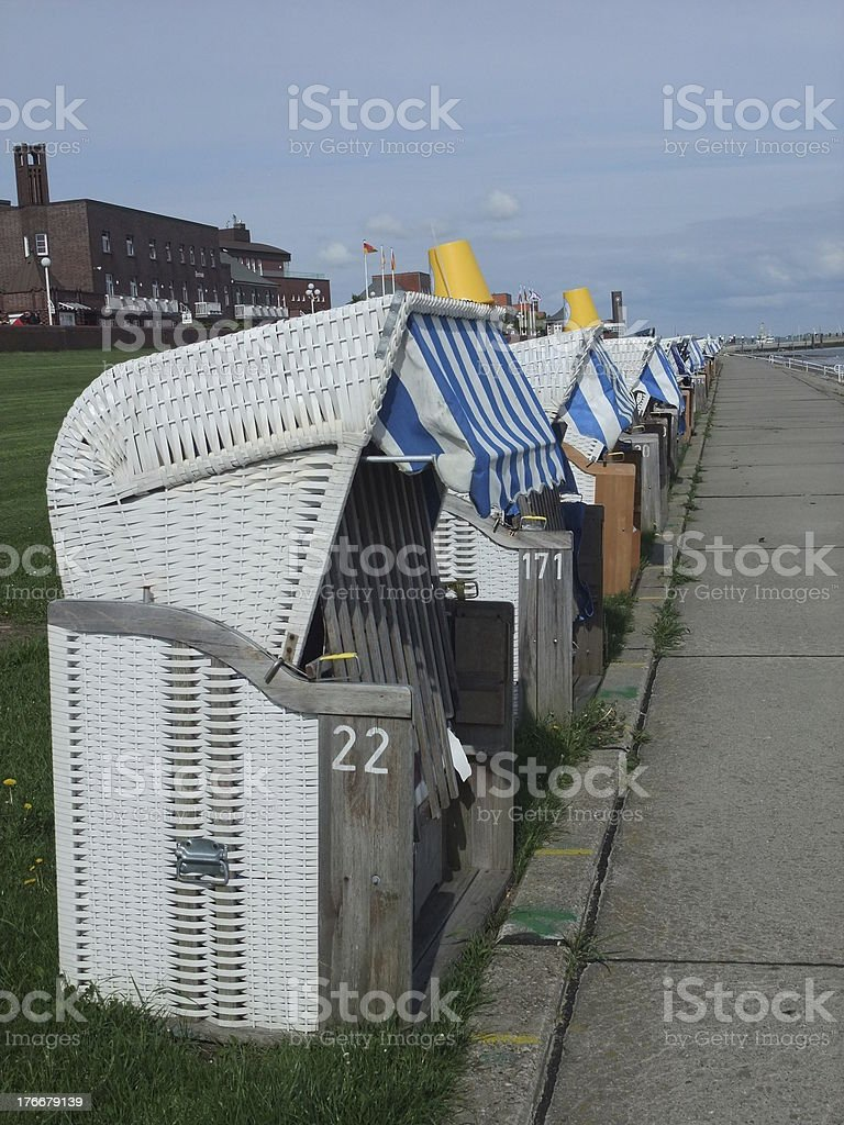 strandkorb royalty-free stock photo