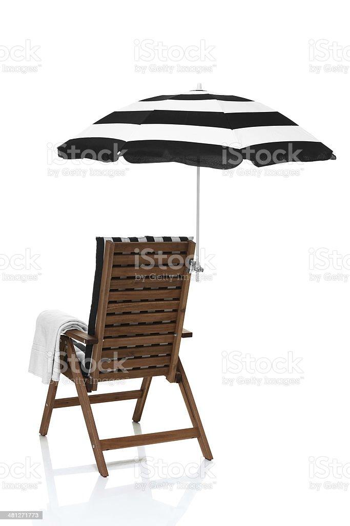 Chaise Avec Parasol Droit Plage Libre Vue Photo De Biais En CxBoWreQd