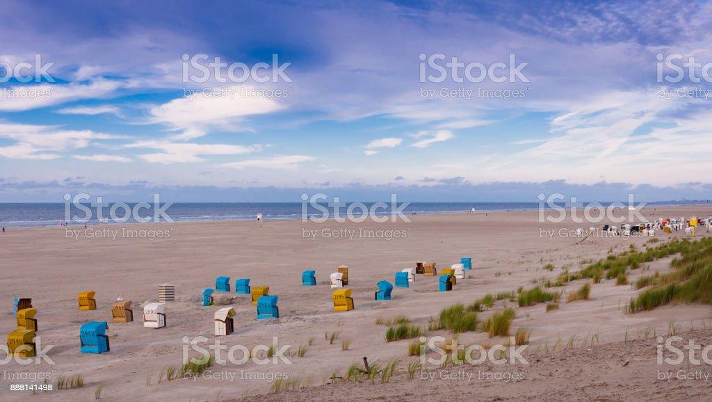Strandkörbe auf der Insel Juist – Foto