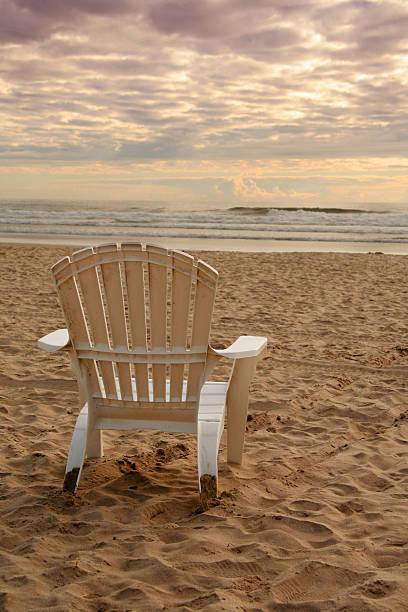 Beach chairs stock photo