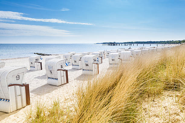Beach Chairs View from a dune at Beach Chairs coastal feature stock pictures, royalty-free photos & images