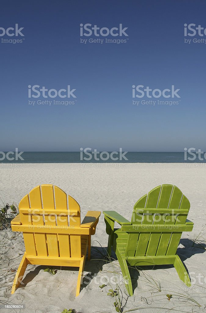 Beach Chairs royalty-free stock photo