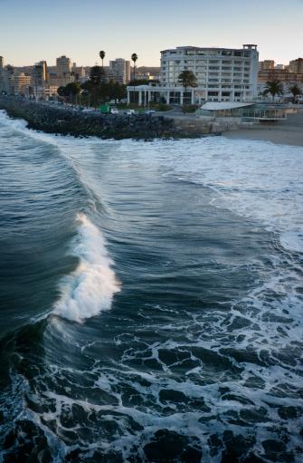Beach Chile Vina Del Mar Stock Photo - Download Image Now