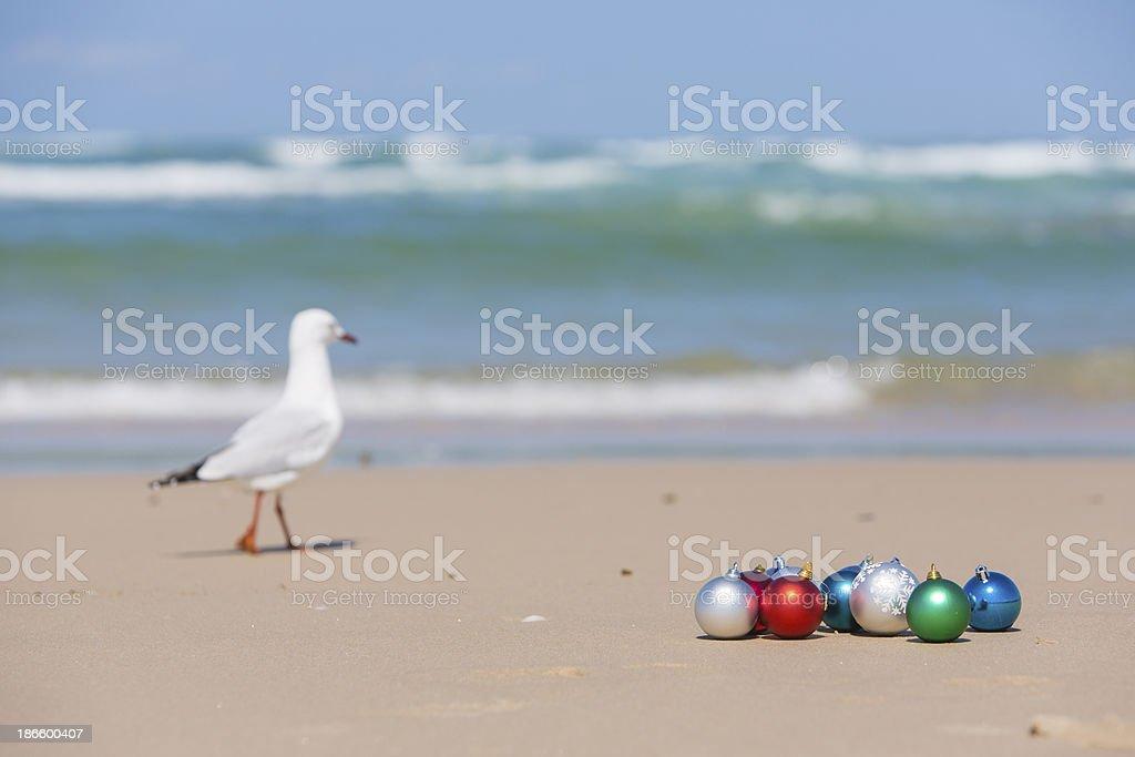 Beach Christmas Decorations royalty-free stock photo