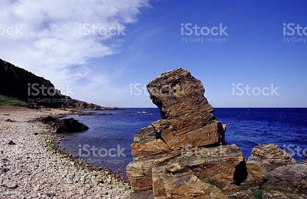 Plaża cliff zbiór zdjęć royalty-free