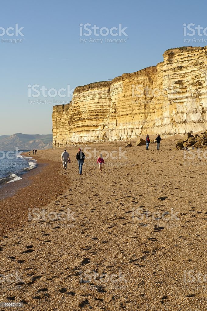 Beach Cliffs royalty-free stock photo