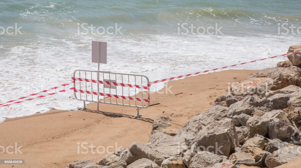 Beach closed due to dangerous work with sea coming in. Beach...