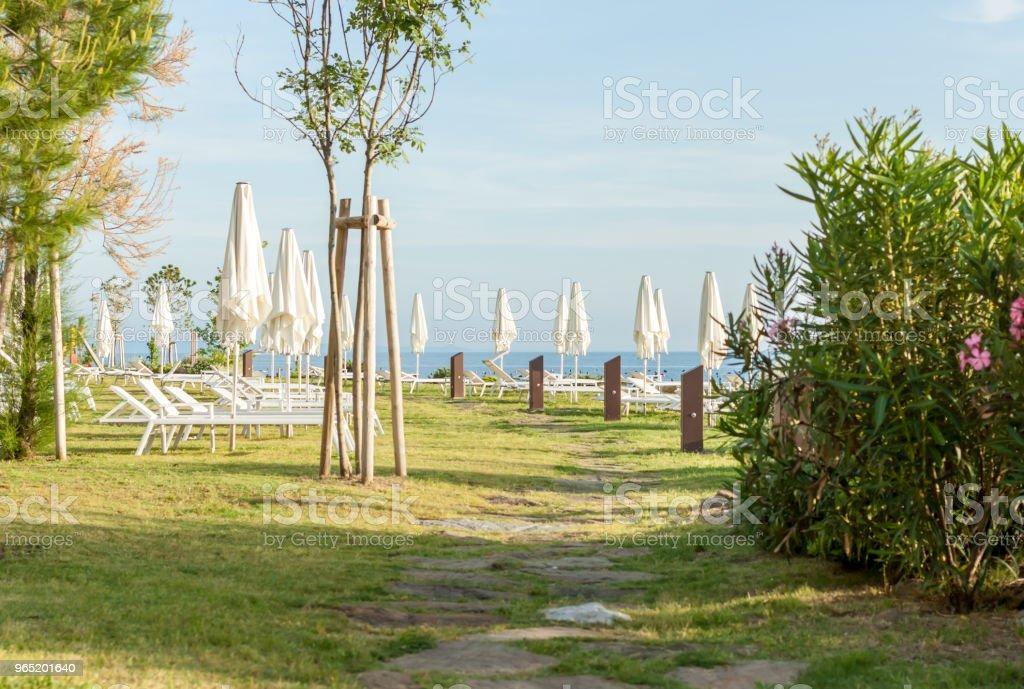 beach club over the sea zbiór zdjęć royalty-free