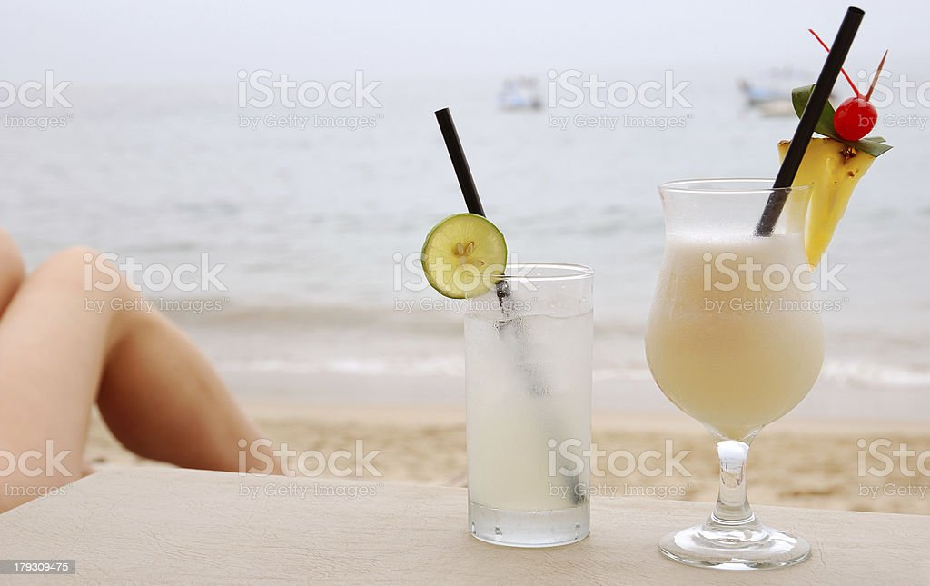 Beach cocktails royalty-free stock photo