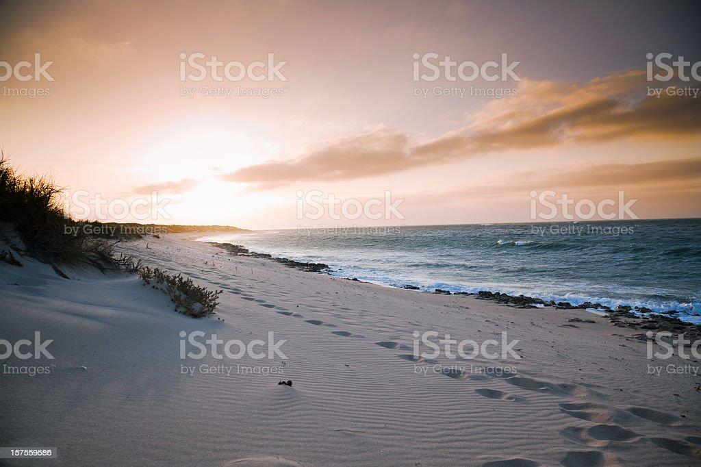 Beach Colorful Sunset stock photo