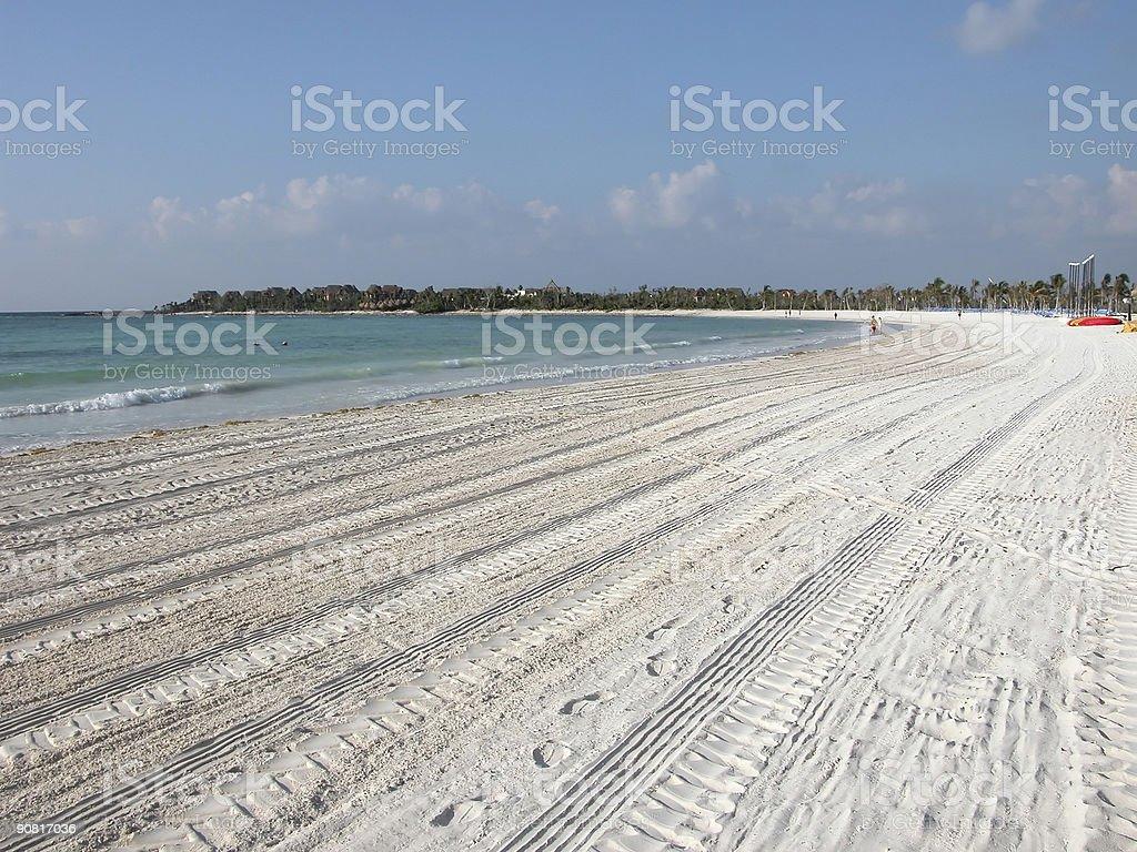 Beach Combed royalty-free stock photo