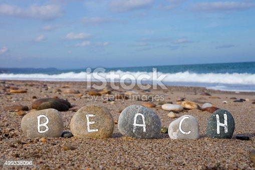istock Beach Concept with Balanced Stones 499338096