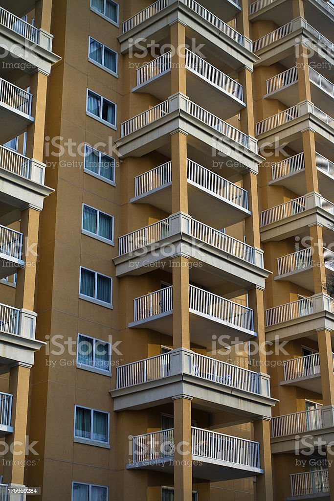 Beach Condominium Tower royalty-free stock photo