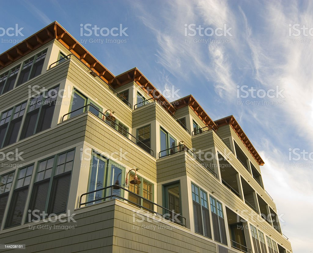 Beach Condos royalty-free stock photo