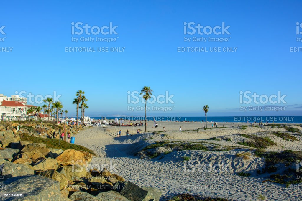 Beach Coronado, Pacific Ocean, San Diego, California, USA stock photo