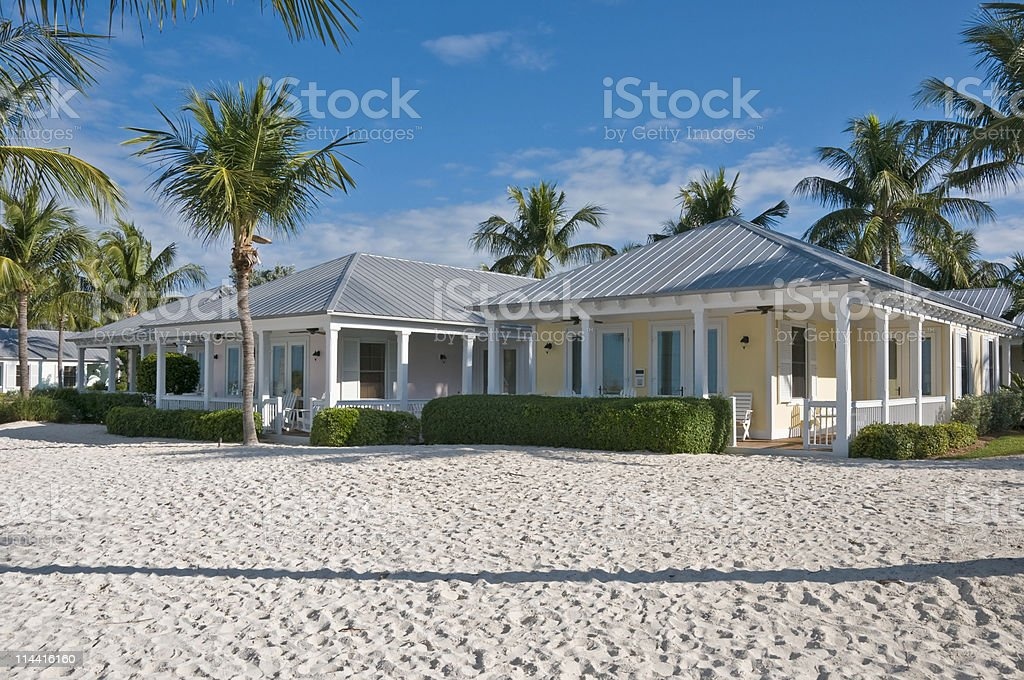 Beach Cottages stock photo