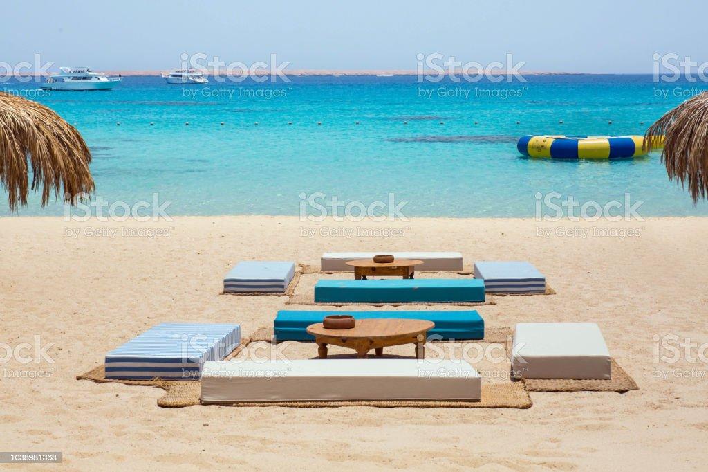 Strand-Couch am Mahmya Insel, Ägypten – Foto