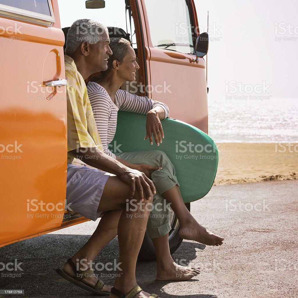 Beach Couple stock photo