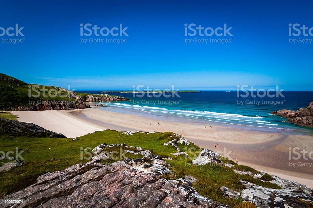 Beach cove in Scotland zbiór zdjęć royalty-free