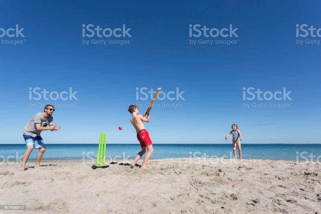 Beach Cricket stock photo