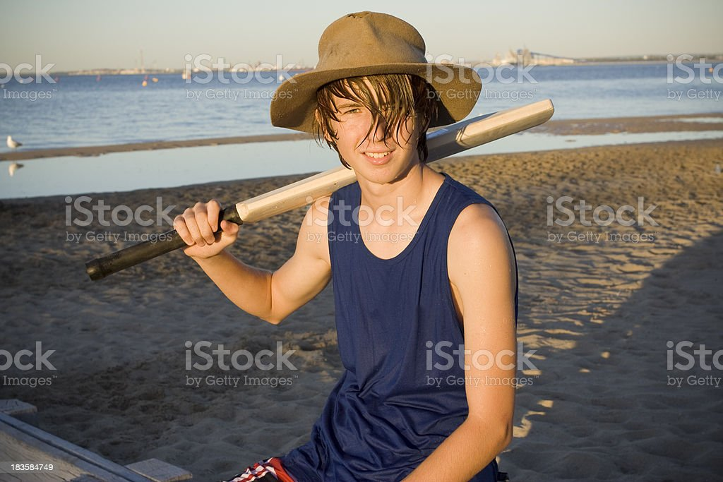 Beach Cricket Portrait stock photo