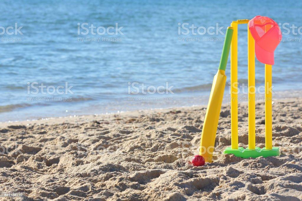 Beach Cricket Womens stock photo