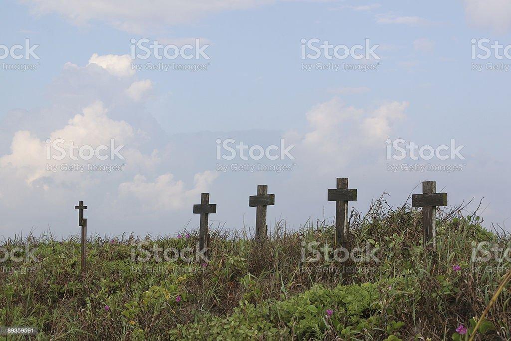Beach Crosses royalty free stockfoto