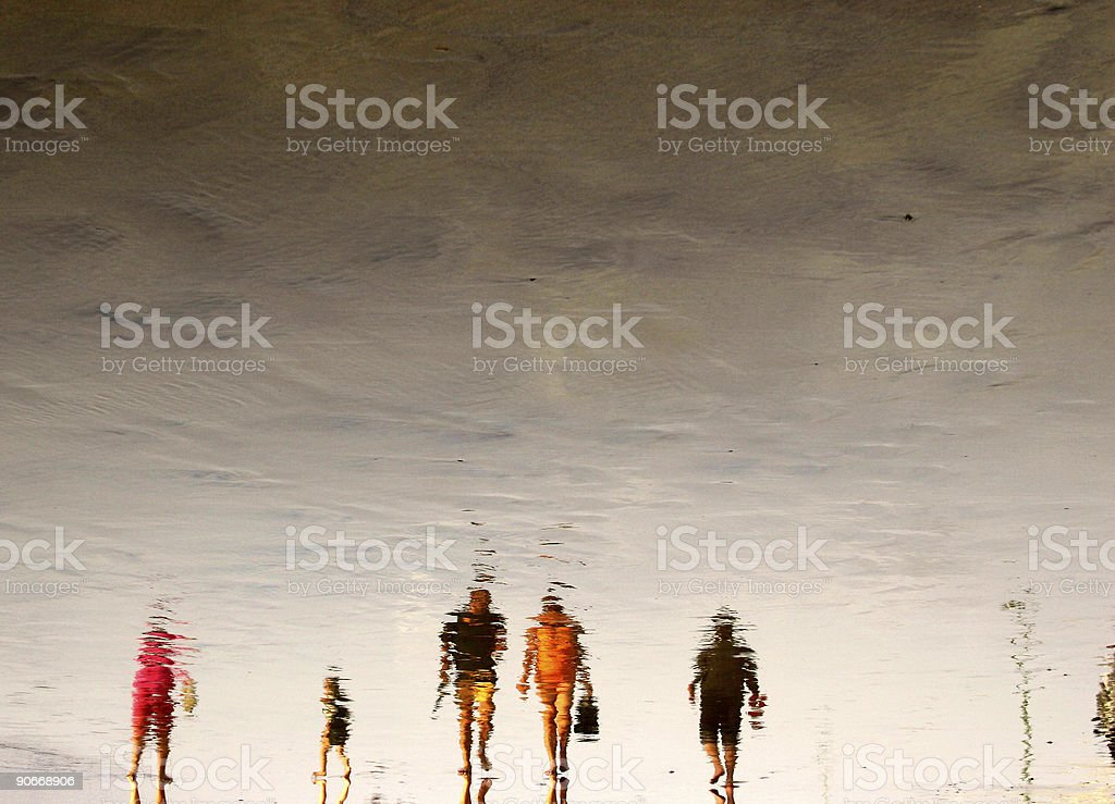 Beach Crowds royalty-free stock photo