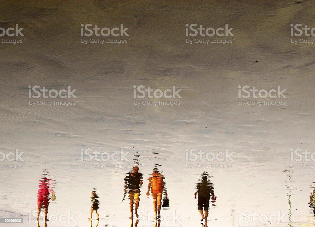 Beach Crowds royalty-free stock photo