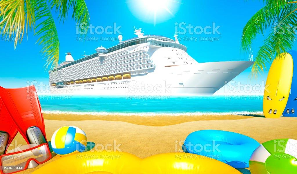 Beach Cruise stock photo