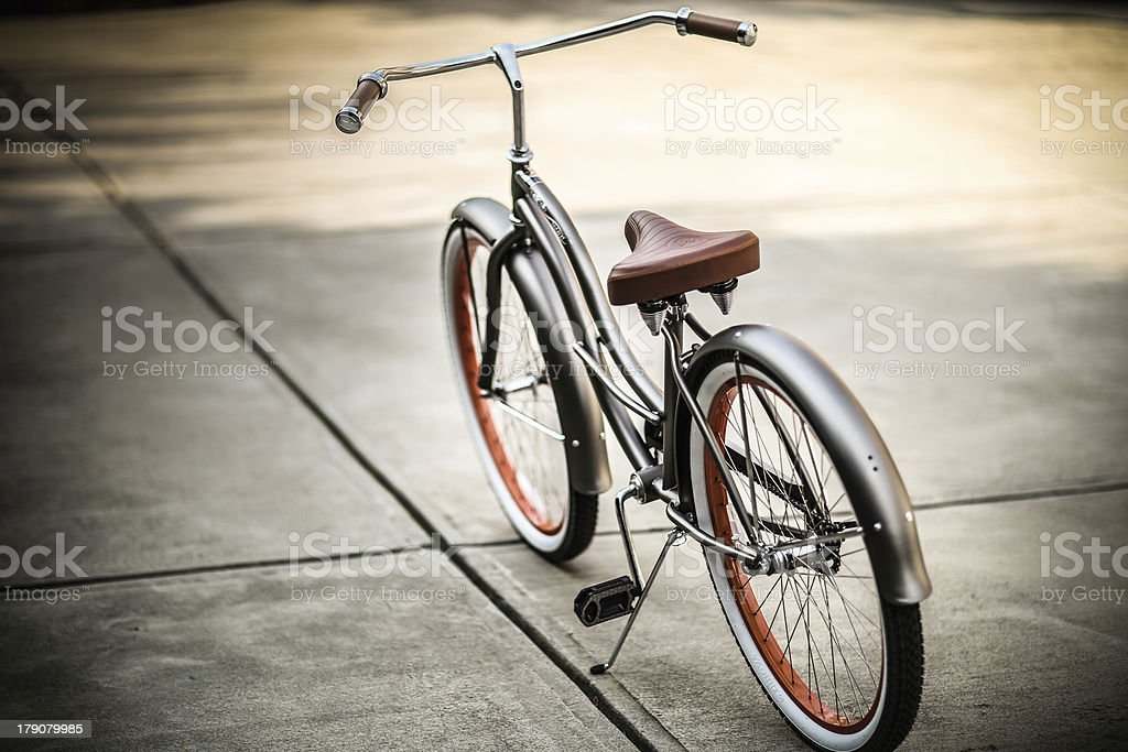 Beach Cruiser Bike with no brand shown stock photo