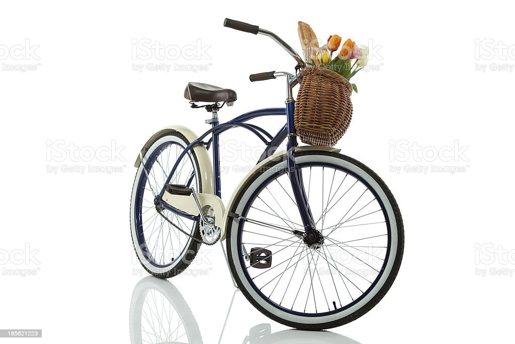 Beach Cruiser with Basket front stock photo