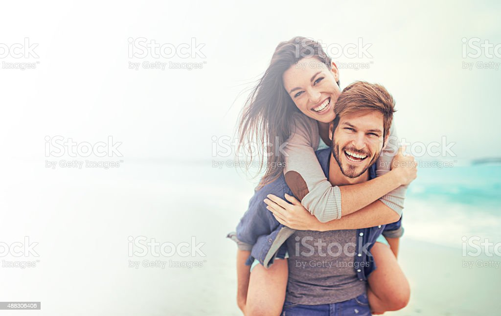 Beach date! stock photo
