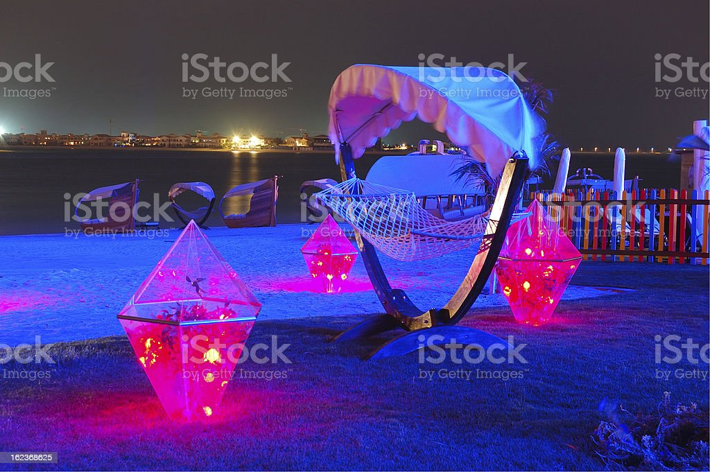 Beach decoration at the luxury hotel royalty-free stock photo