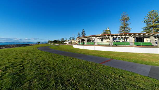 Beach Domain, Napier, New Zealand stock photo