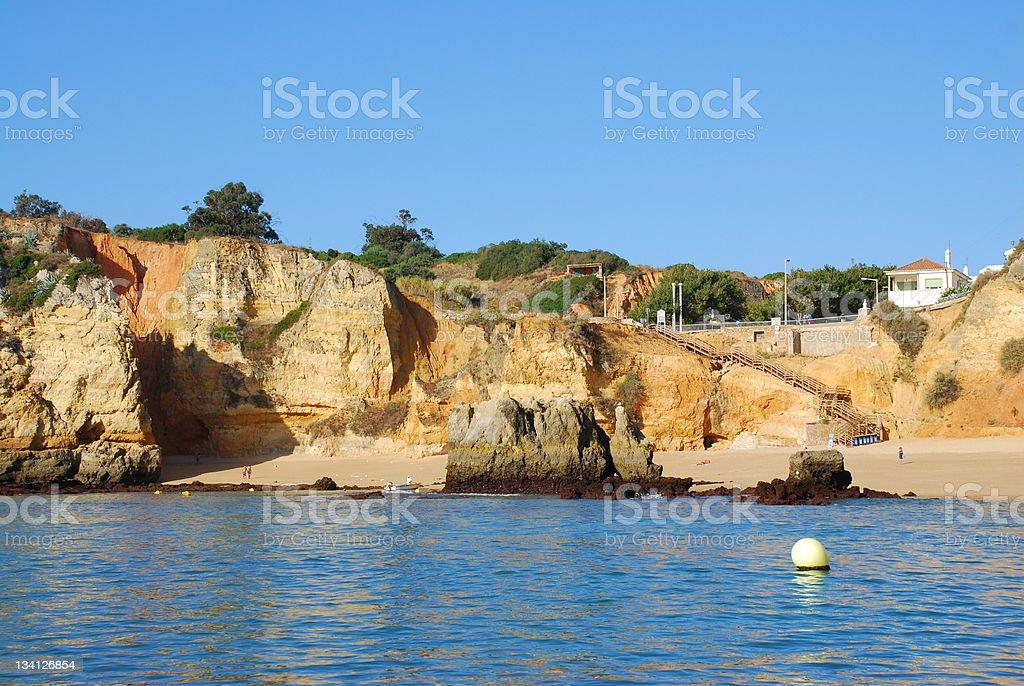 Beach Dona Ana  Lagos in the Algarve Portugal royalty-free stock photo