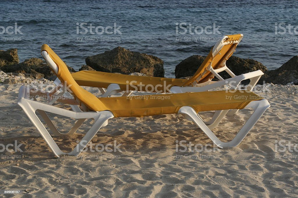 Beach dreaming, reserved for you royalty-free stock photo