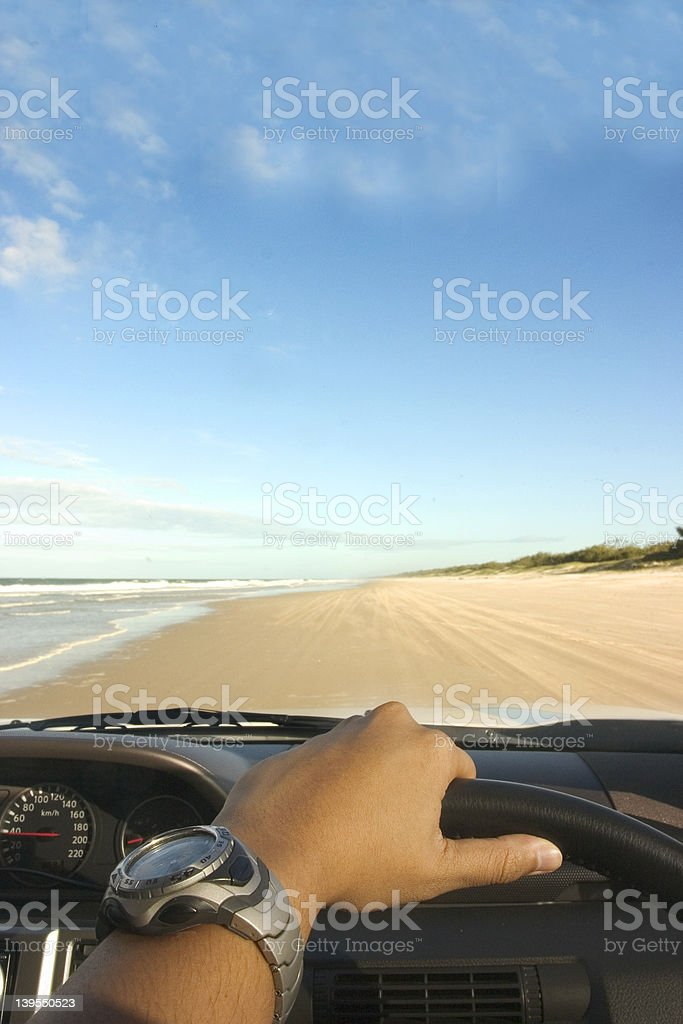 Beach Driving stock photo